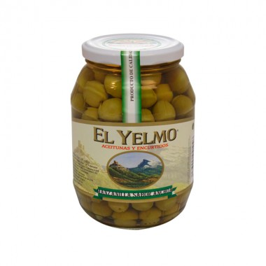 Aceitunas Manzanilla Sabor Anchoa Con Hueso - El Yelmo 0.550 Kg