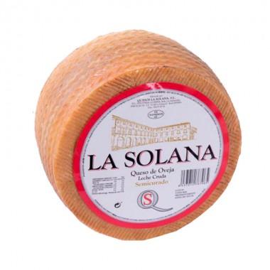 Queso Semicurado 100% Leche Cruda de Oveja Semicurado- La Solana -