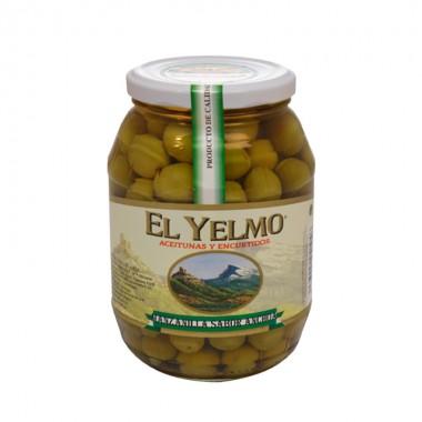 Aceitunas Manzanilla Sabor Anchoa Sin Hueso - El Yelmo - 0.550 kg